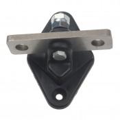 Penslotisolatoren met RVS/INOX 2-weg ankerplaat per 2 stuks