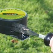 Rollgate met zwart lint afrolbaar tot 6 meter